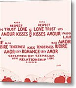 Love Kiss Digital Art Metal Print