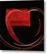 Love Letter Fine Fractal Art Metal Print by Georgeta  Blanaru
