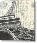 Love Letter From Paris Square Metal Print