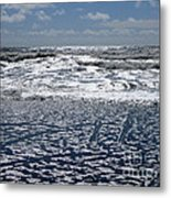 Love Letters In The Sand Metal Print