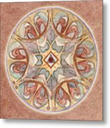 Love Mandala Metal Print
