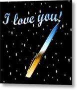 Love Message Digital Painting Metal Print