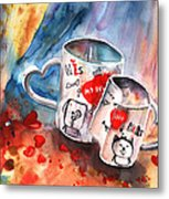 Love Mugs Metal Print