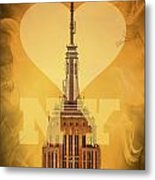 Love New York Metal Print