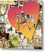Love Of Boxers Metal Print by Judy Wood