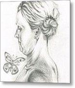 Loves- Her Butterflies Metal Print