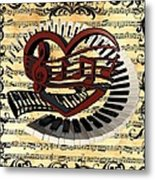 Love Of Music  Metal Print