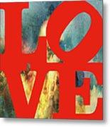 Love On Fire Metal Print