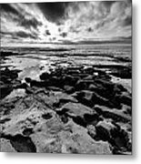 Love On The Rocks Bw Metal Print