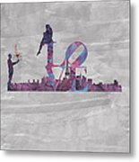 Love Over Paris Metal Print