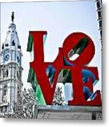 Love Park And City Hall Metal Print