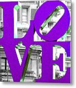 Love Philadelphia Purple Metal Print