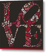 Love Quatro Heart - S111b Metal Print