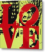 Love - Red On Lime Metal Print