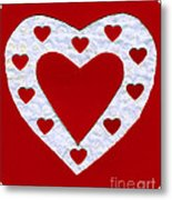 Love Series Collage - Heart 1a Metal Print
