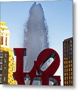 Love Statue In Philadelphia Pa Metal Print