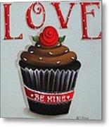 Love Valentine Cupcake Metal Print