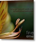 Love With Action Metal Print