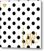 Love With Dots Metal Print
