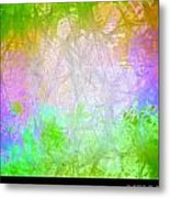 Love You Right Green Metal Print