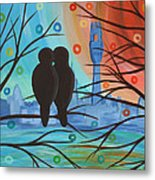 Lovebirds In P-town Metal Print
