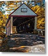 Lovejoy Covered Bridge Metal Print by Bob Orsillo