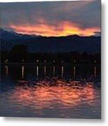 Loveland City Sunset Metal Print