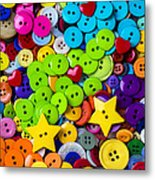 Lovely Buttons Metal Print