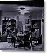 Lovely Celluloid Ghosts Metal Print