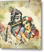 Lovely Couple 2 Metal Print