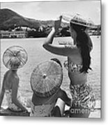 Lovely Ladies In Cha Cha Hats Metal Print