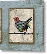 Lovely Song Bird Trio -1 Metal Print