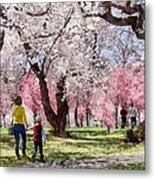 Lovely Spring Day For A Walk Metal Print