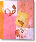 Lovers Dance 2 In Sienna And Pink  Metal Print