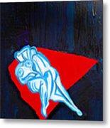 Lovers In Bluebells Metal Print