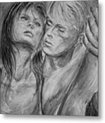 Lovers In Mono 02 Metal Print