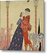 Lovers On A Balcony  Metal Print