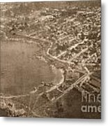 Aerial Of Lovers Point And Pacific Grove California July 10 1906 Metal Print