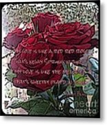 Lover's Roses Metal Print