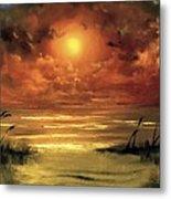Lovers Sunset Metal Print