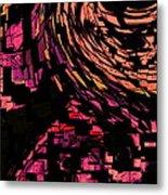 Lovers Swirling Metal Print
