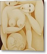 Lovers With Fetus 2006 Metal Print