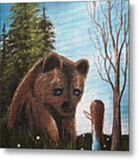 Loving All God's Creatures By Shawna Erback Metal Print by Shawna Erback