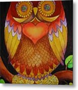 Loving Owl Metal Print by Lou Cicardo