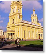 Low Angle View Of A Cathedral, Peter Metal Print