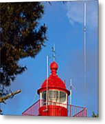 Low Angle View Of A Lighthouse, Morgat Metal Print