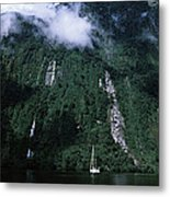 Low Angle View Of A Mountain, Milford Metal Print