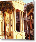 Low Angle View Of Historic Houses Metal Print