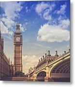 Low Angle View Of Westminster Bridge Metal Print