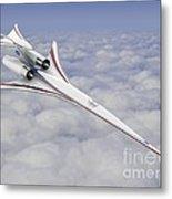 Low-boom Supersonic Aircraft, Artwork Metal Print